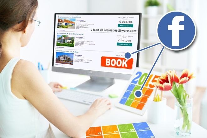 Online vakantiehuis reserveren via Facebook