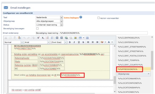 Beheeromgeving huurder Recreatiesoftware