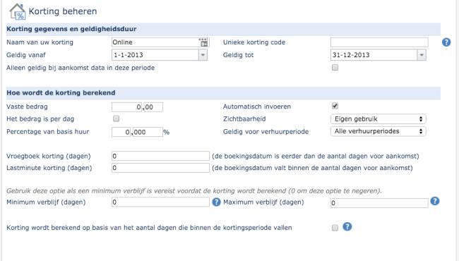 Last-minute, Vroegboek, Meerdere weken, Facebook korting
