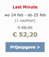 Voorbeeld last-minute korting online reserveren