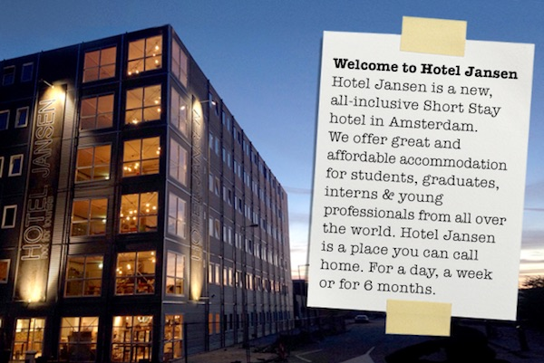Hotel Jansen - All-inclusive Short Stay Hotel in Amsterdam
